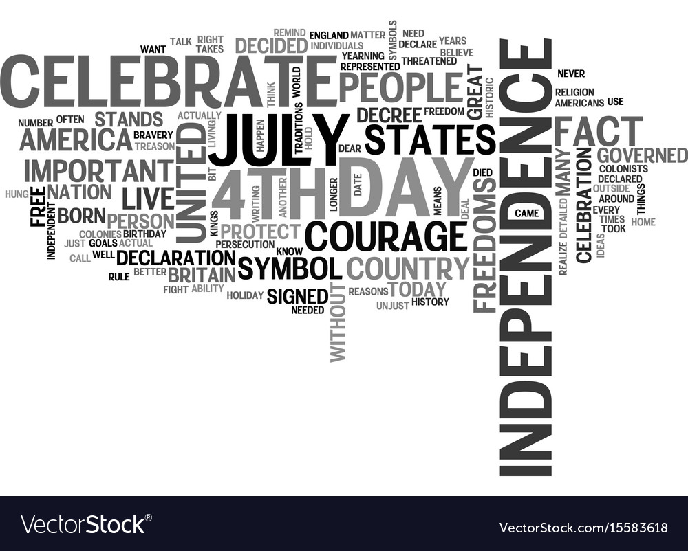 Why do we celebrate the th of july text word