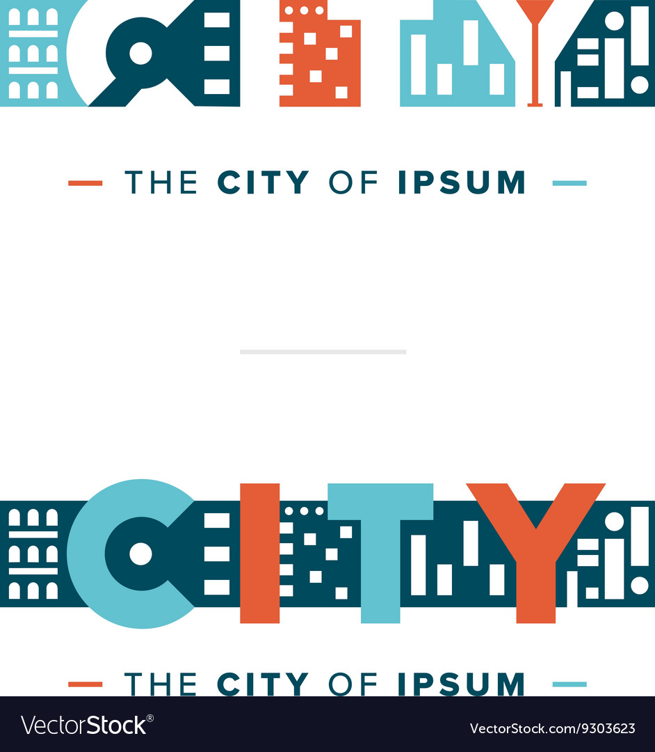 Abstract city logo