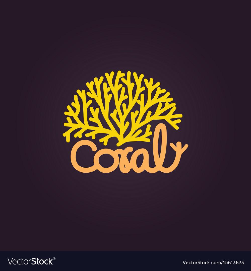 coral logo icon design template royalty free vector image