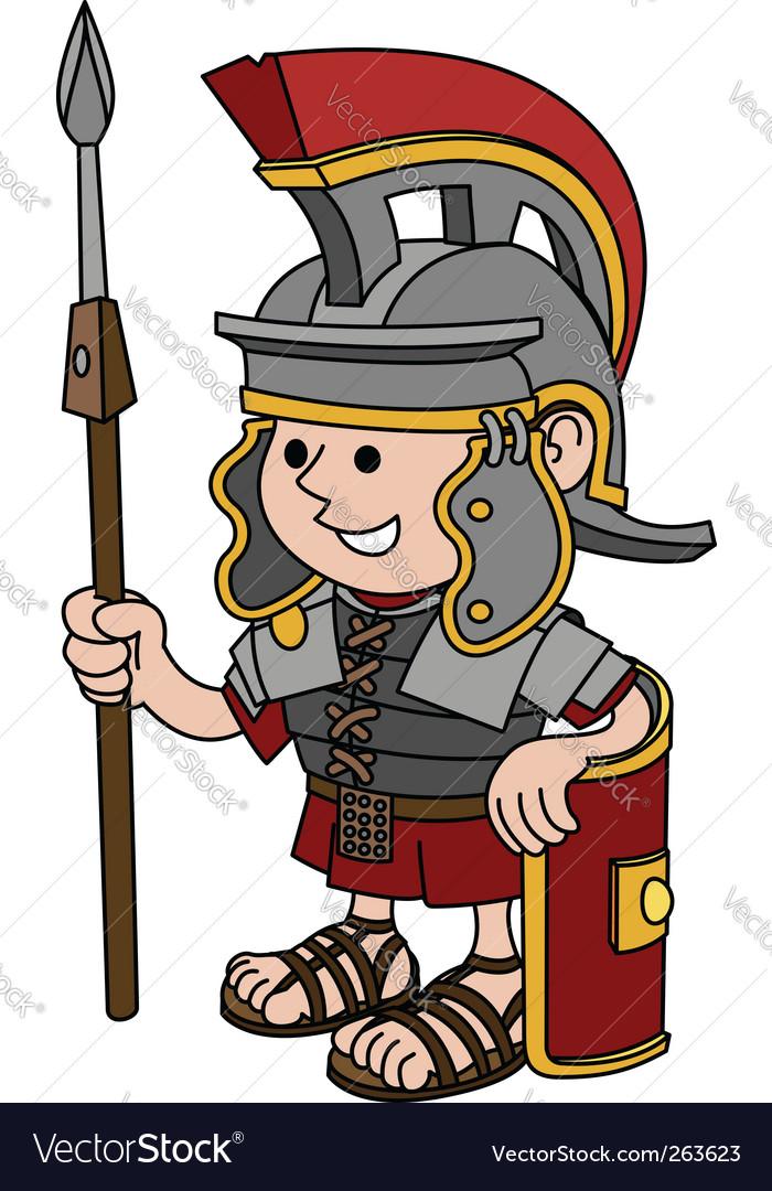 roman soldier royalty free vector image vectorstock