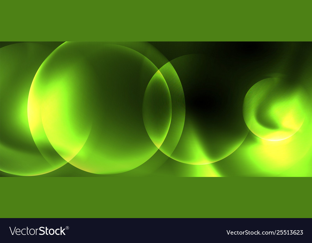 Shiny neon circles abstract background