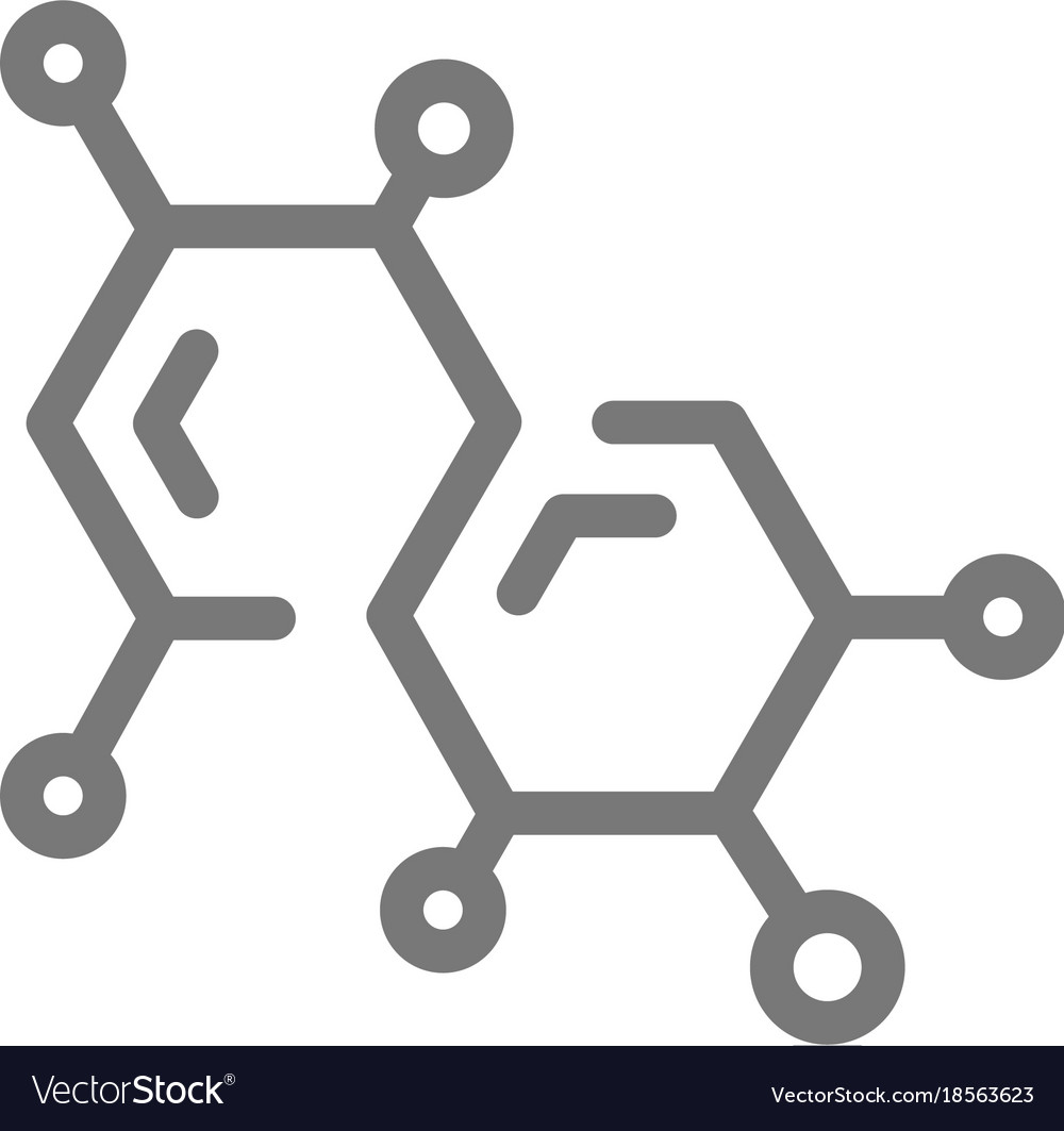 Simple chemistry formula and molecule line icon