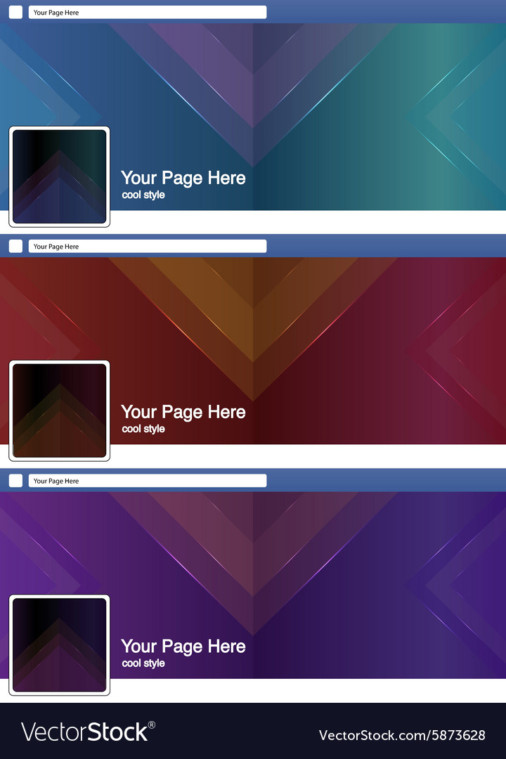 Cool Triangle Abstract Face Book Page Cover Banner