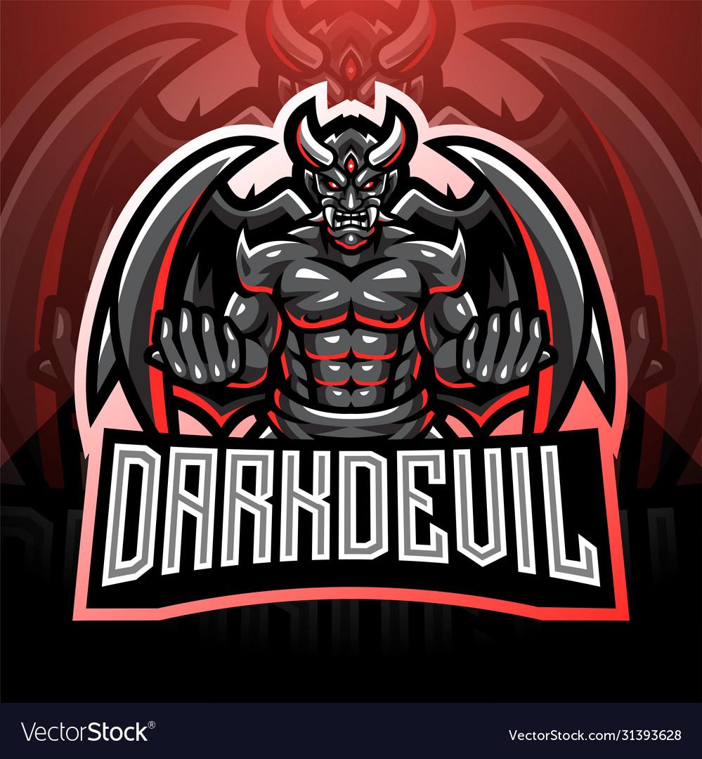 Dark devil esport mascot logo