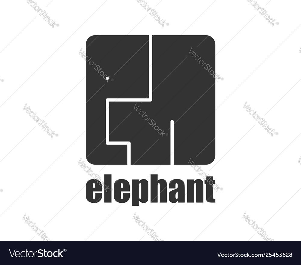 Elephant logo modern style african animals wild