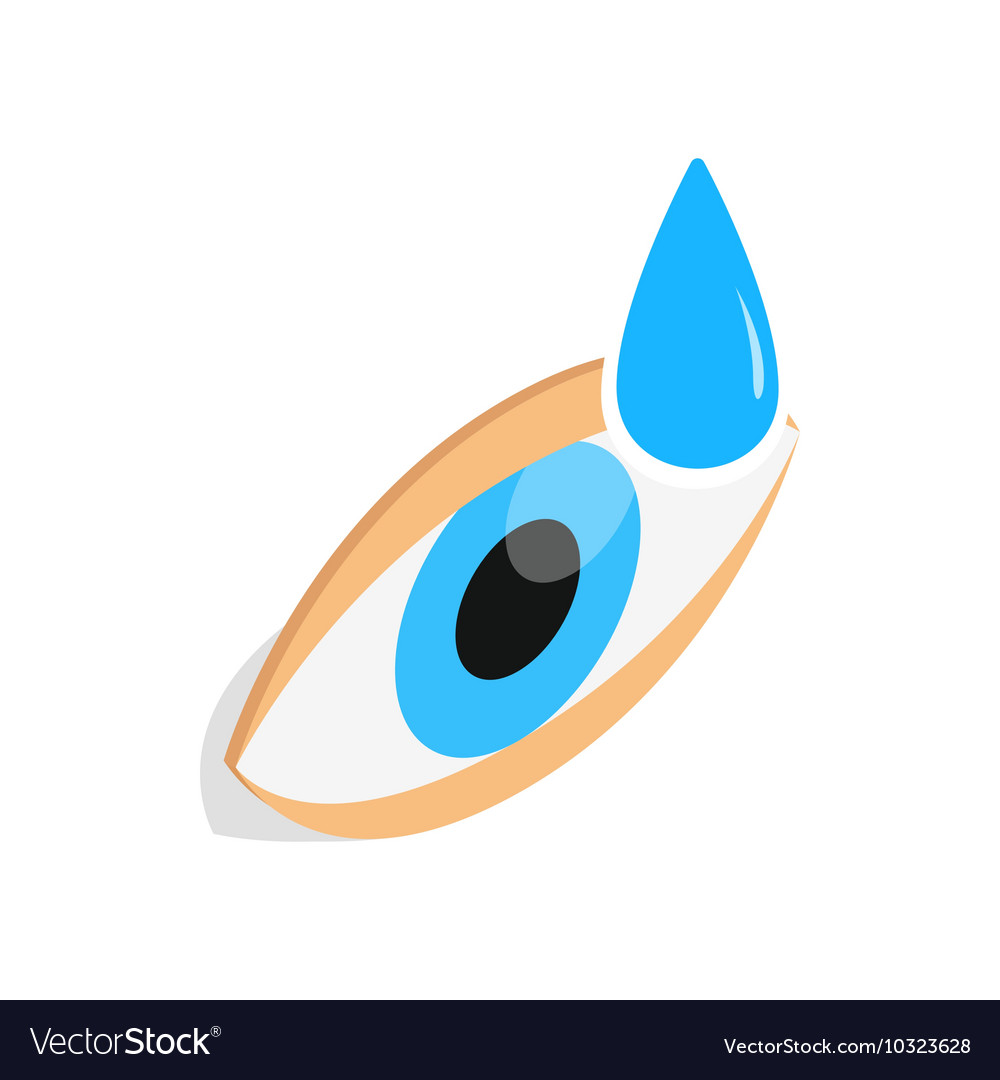 Eye drops for treatment icon isometric 3d style