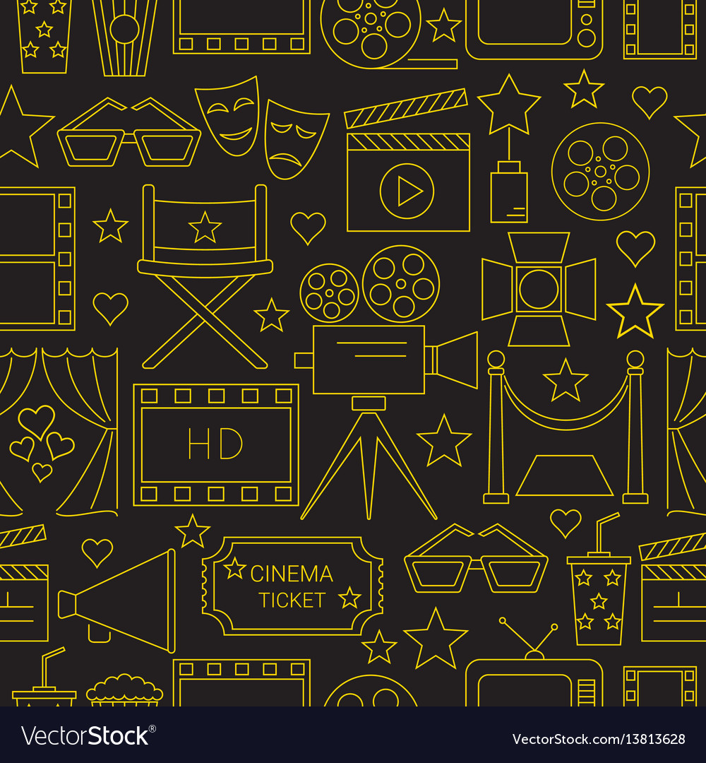 Movie seamless pattern background with