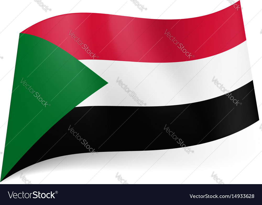 National flag of sudan red white and black