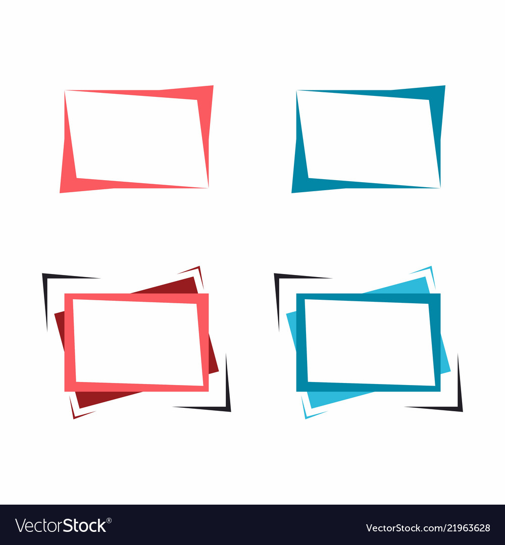 Set of bright frames for text or banner Royalty Free Vector