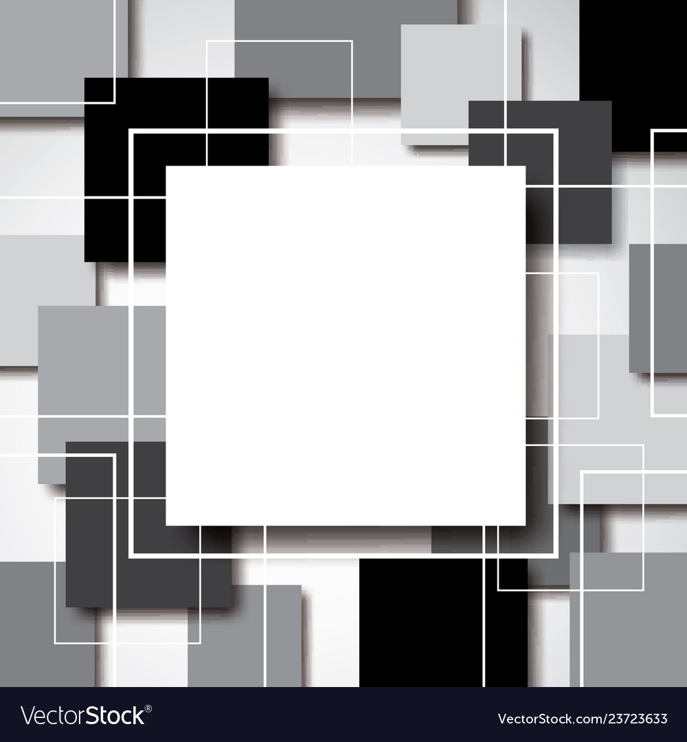 Abstract blank geometric square with drop shadow vector image on VectorStock