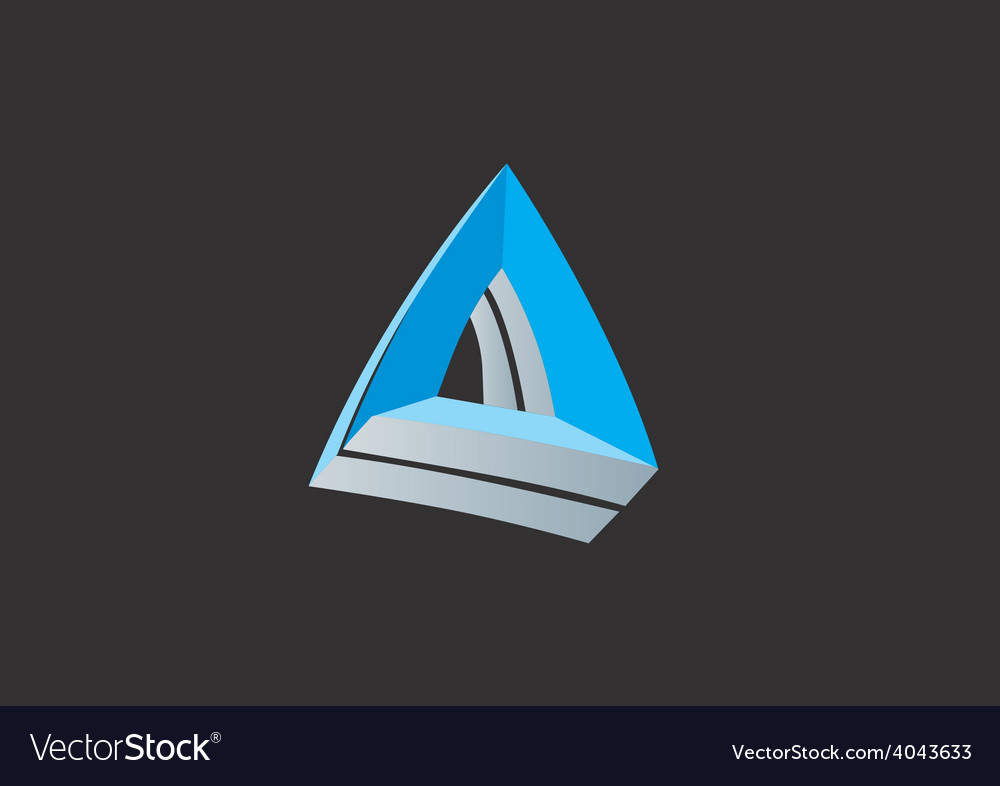 Abstract triangle 3D business logo