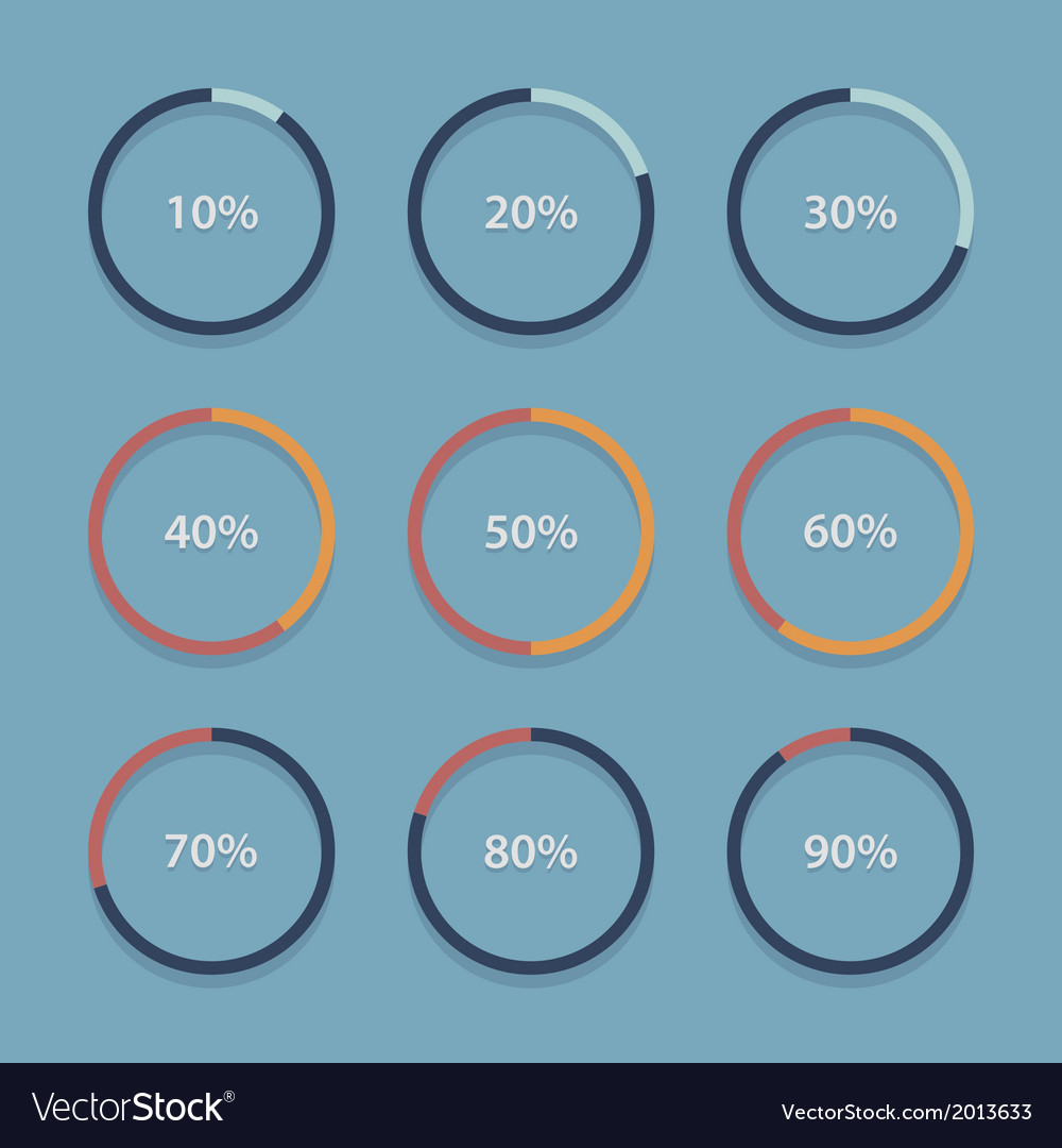 Circle chart graph infographic percentage vector image ccuart Images