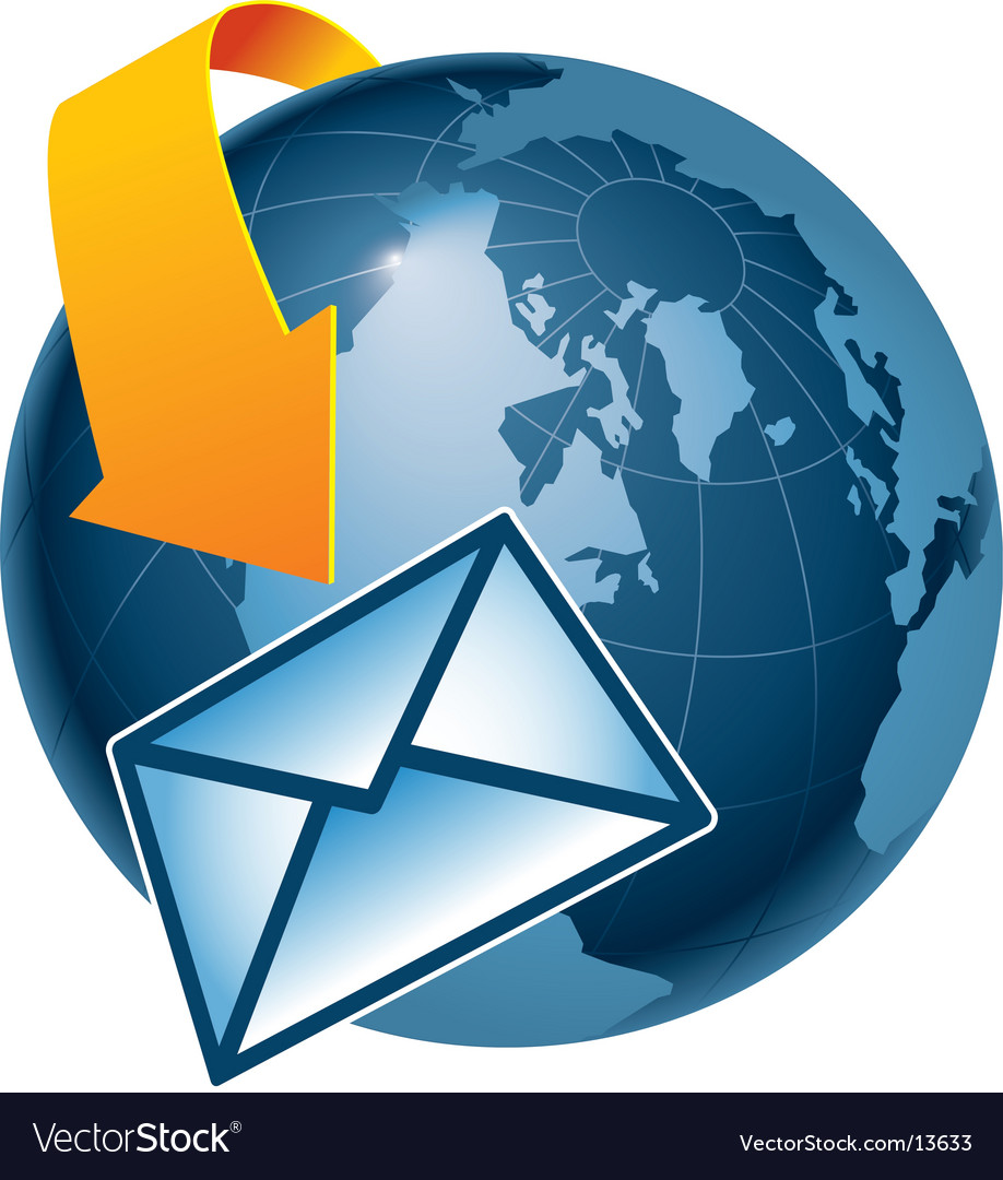 Email globe vector image
