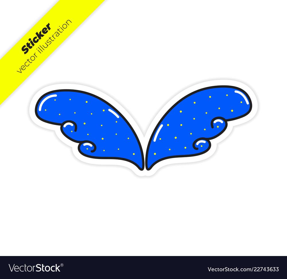 Magic wings sticker