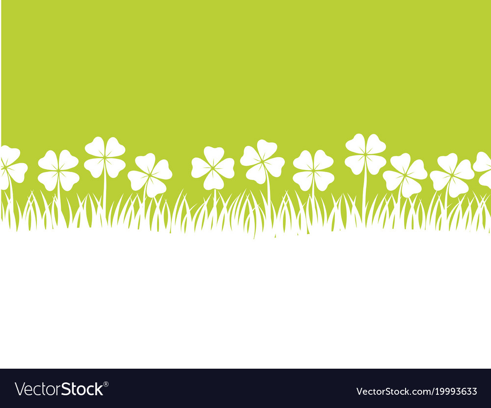 Seamless four leafed clover background