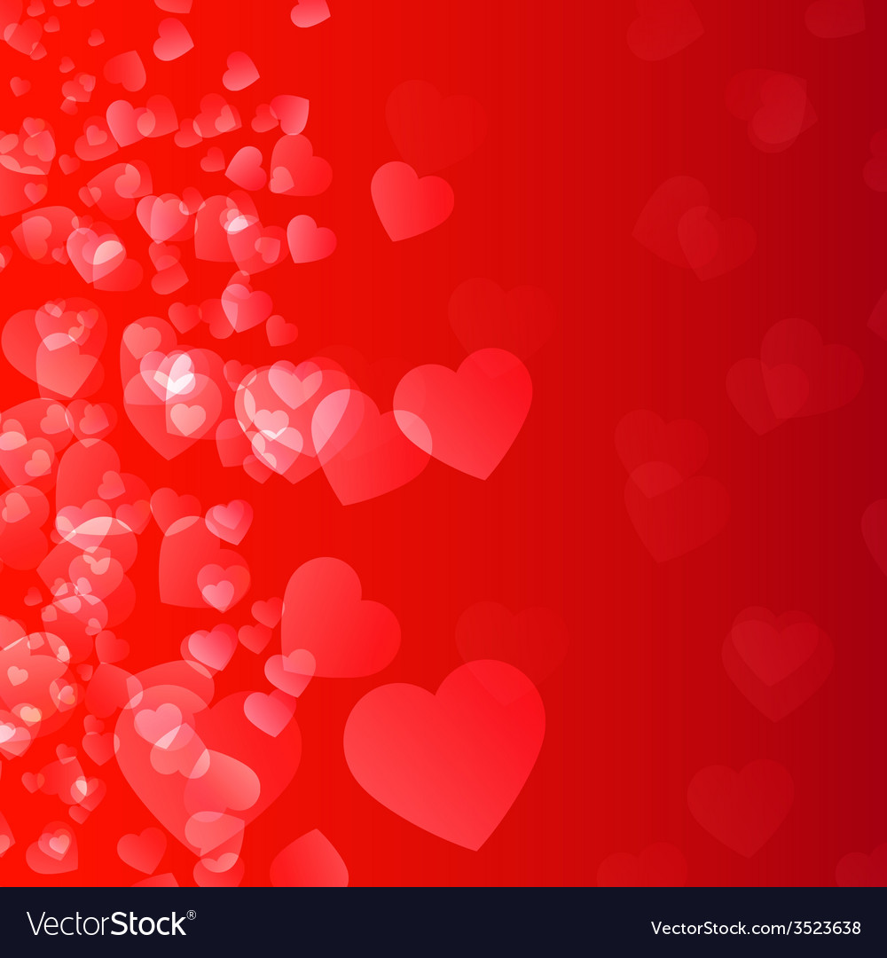 Abstract background flame and hearts