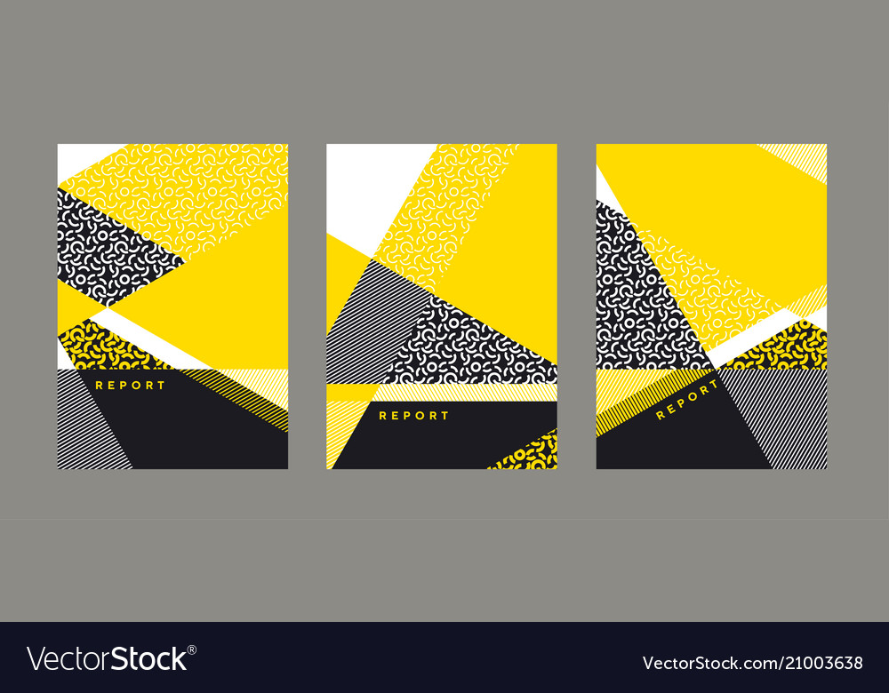 Abstract bright geometric cover template