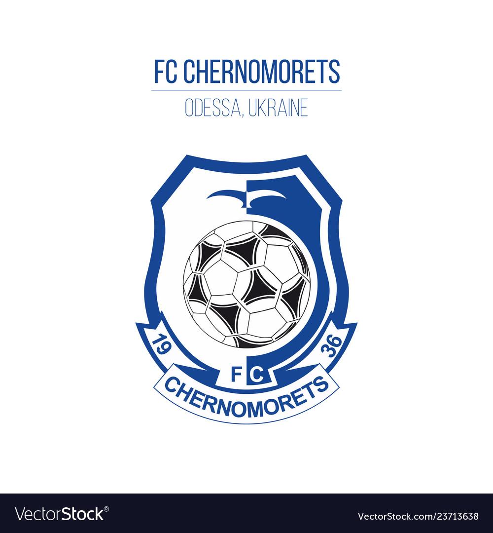 Chernomorets soccer football club logo isolated