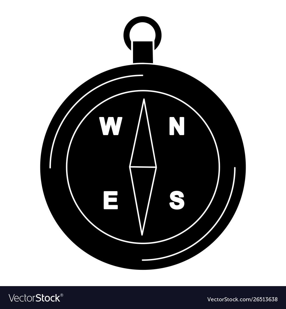 Compass glyph black icon