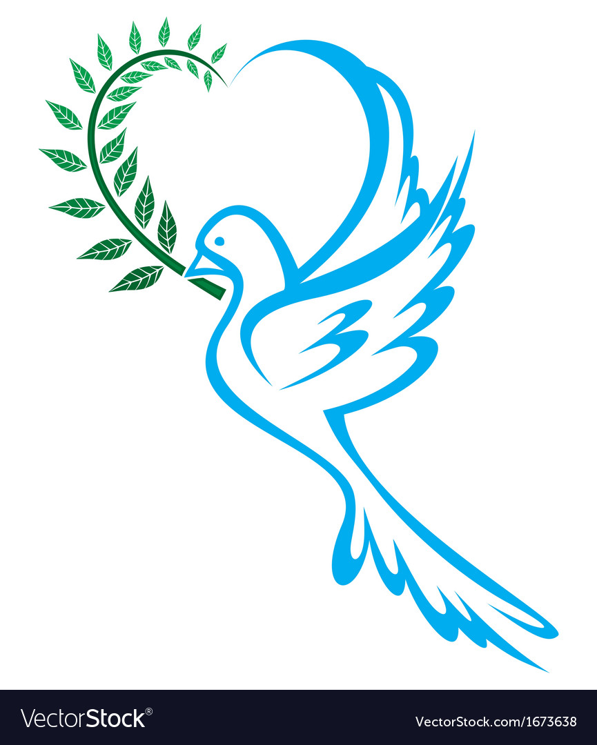 Dove Of Peace Royalty Free Vector Image Vectorstock