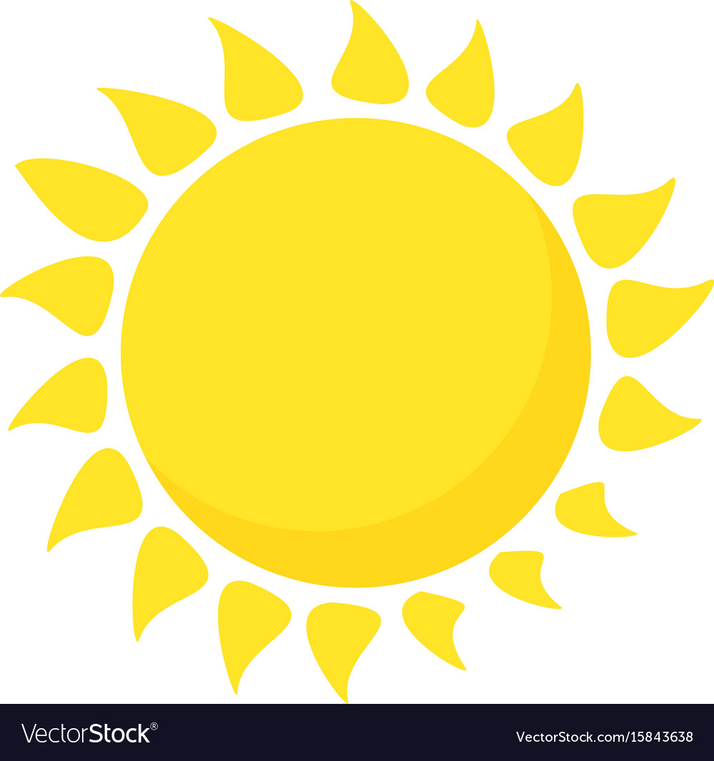 Hot Sun Icon Cartoon Style Royalty Free Vector Image