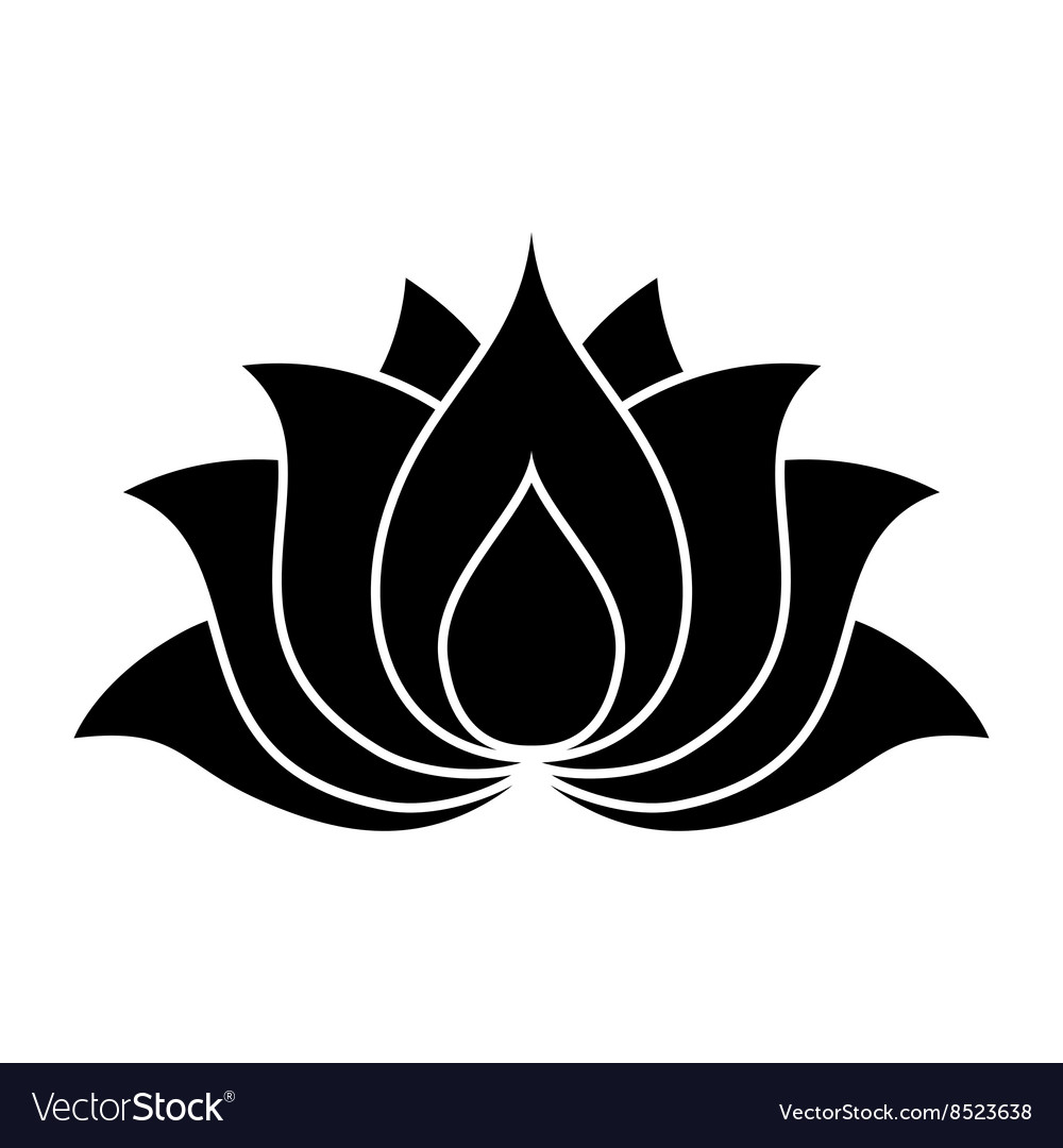 Lotus Flower Sign Royalty Free Vector Image Vectorstock