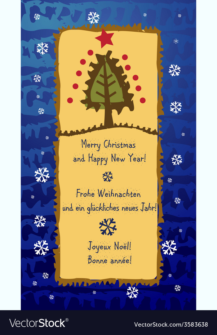 Scrapbook Christmas greeting card Royalty Free Vector Image