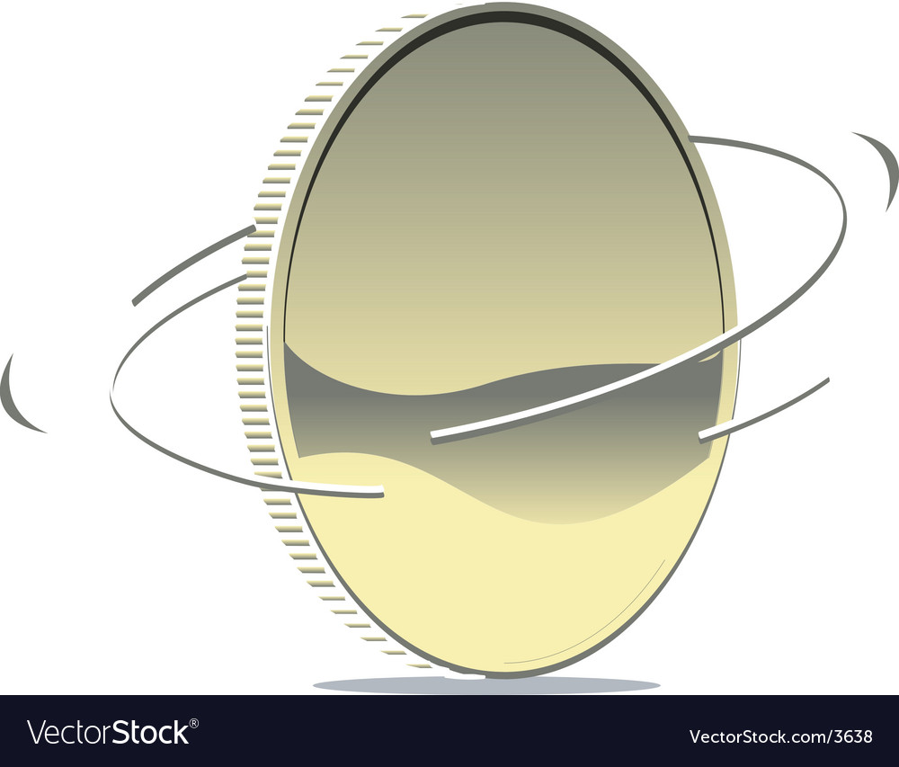 Spinning coin vector image