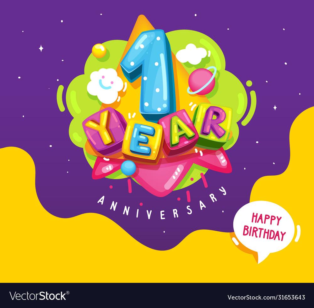 1 year birthday