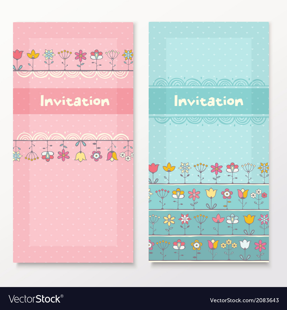 Baby shower cards with funny flowers