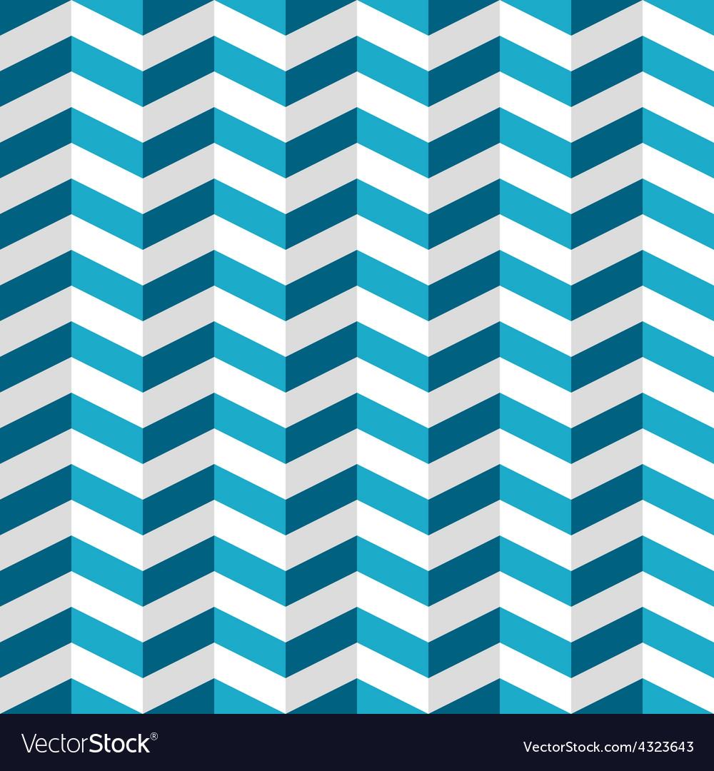 Blue and white chevron seamless pattern