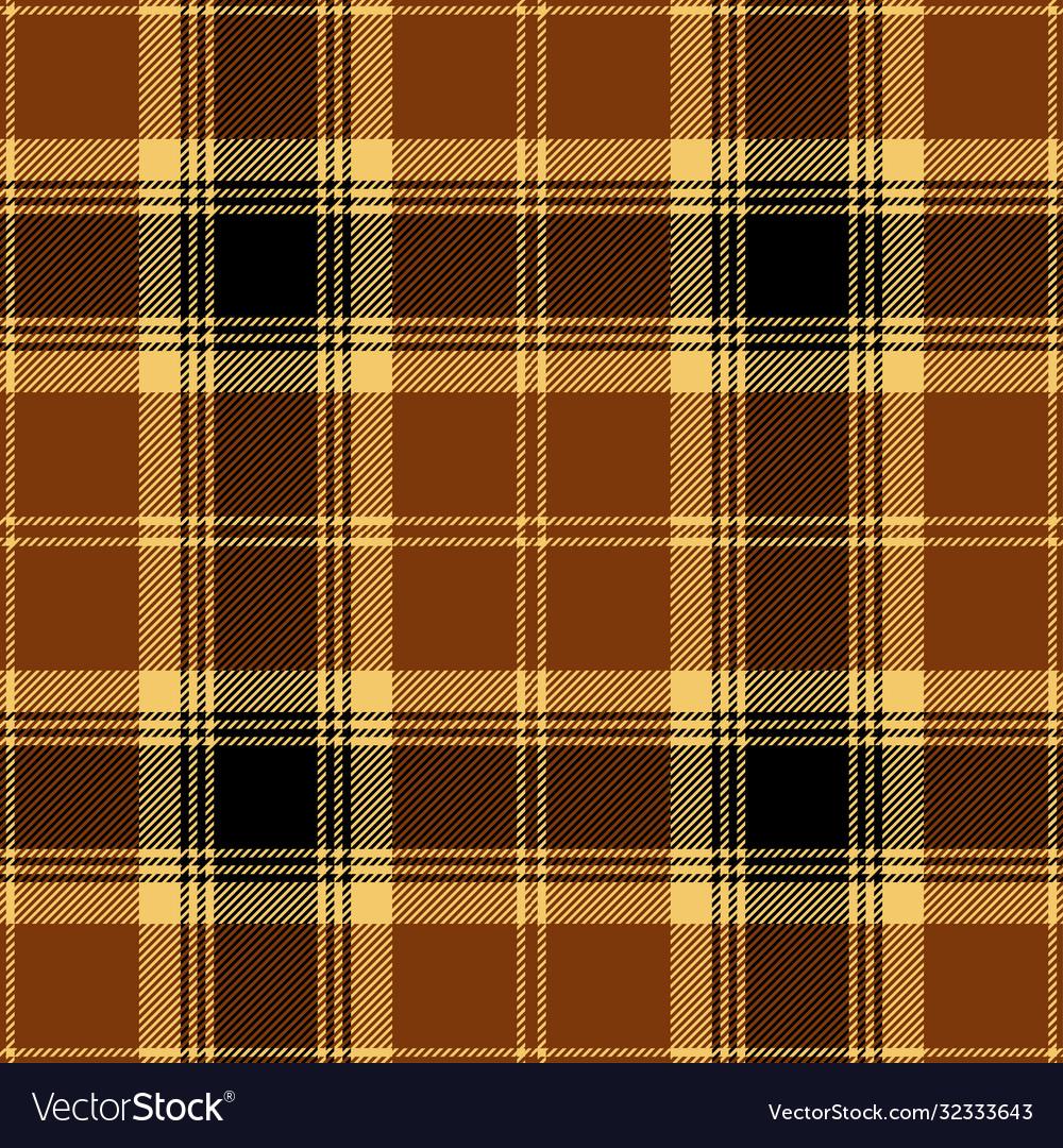 Brown black tartan plaid scottish pattern