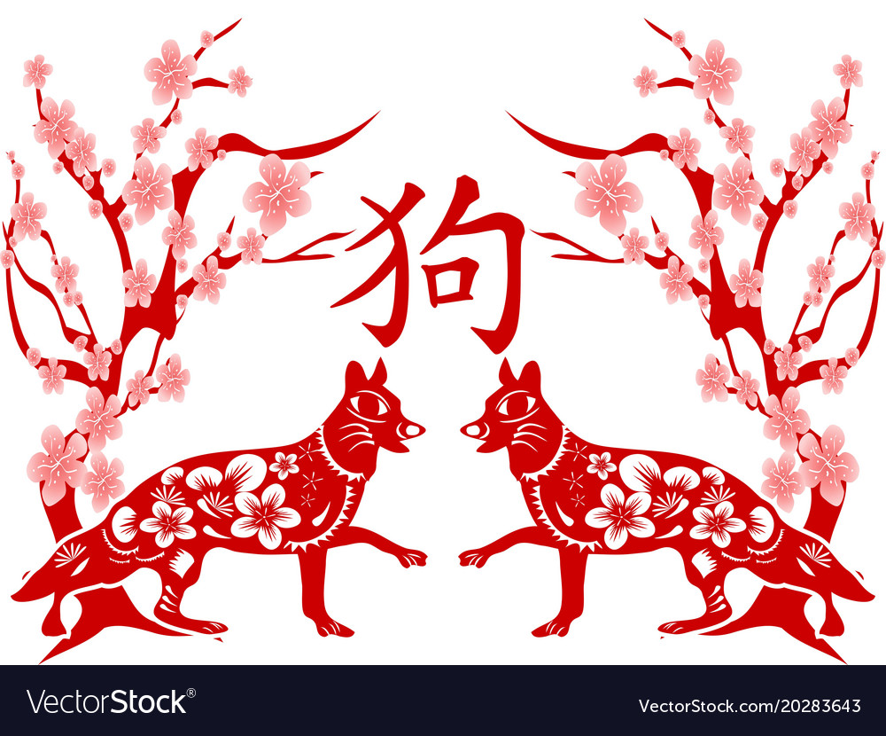 Chinese dog year background
