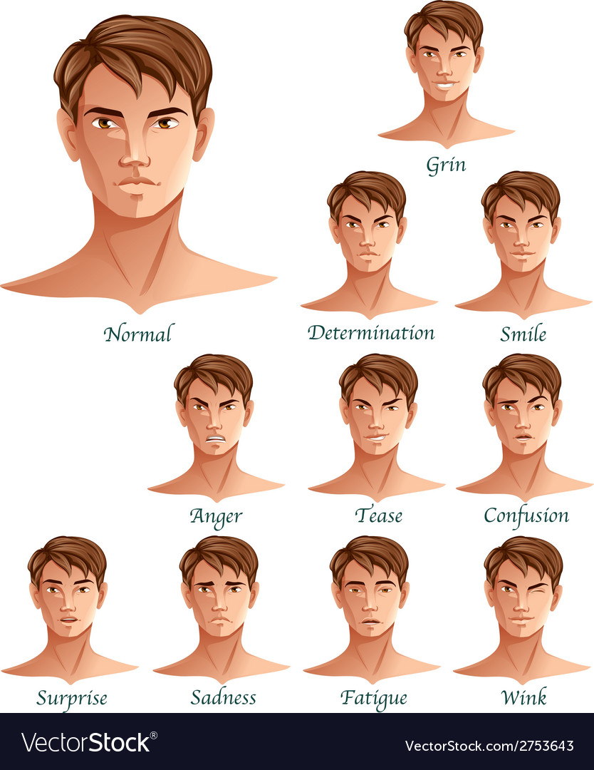 Expressions Set vector image