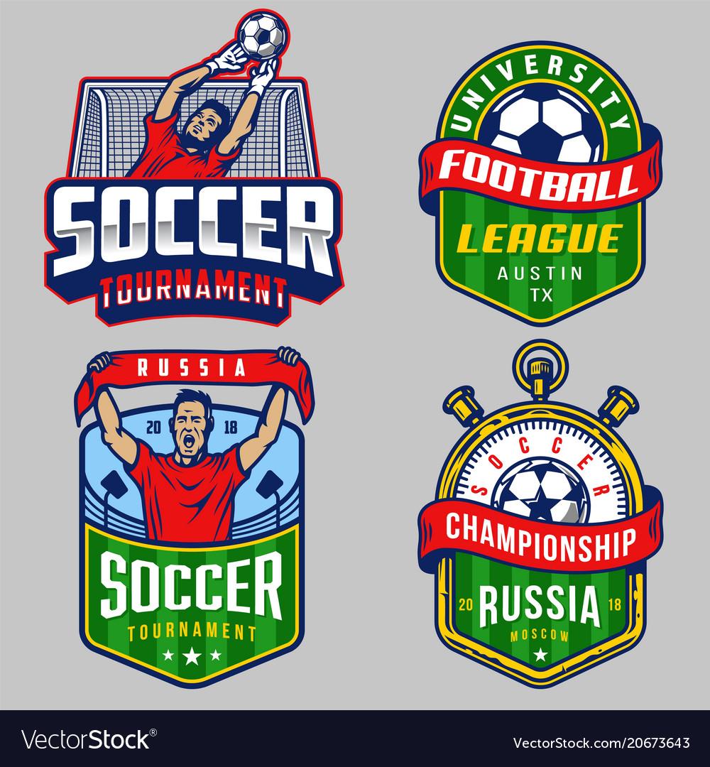 Set soccer emblems