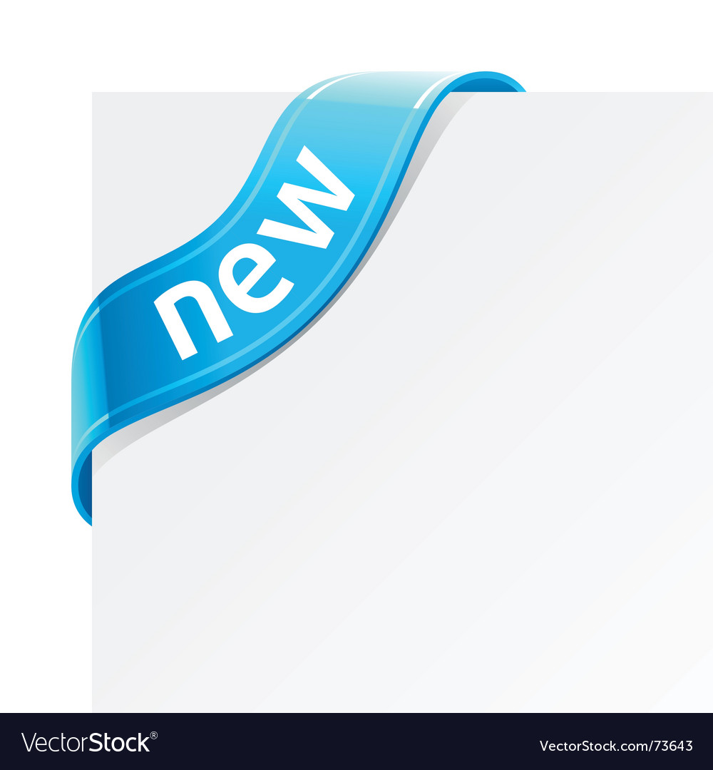 Sign new vector image