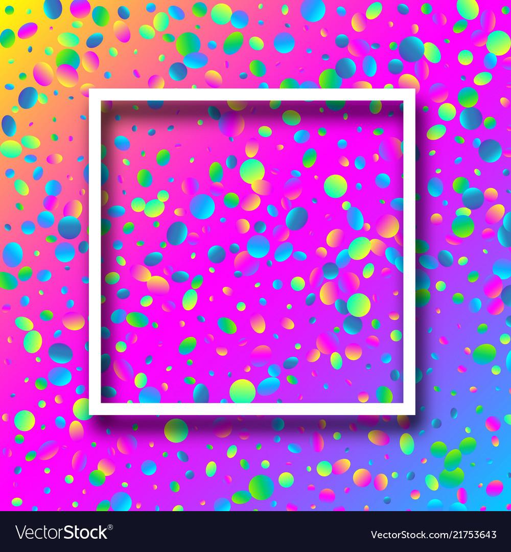 Spectrum festive background with colorful confetti
