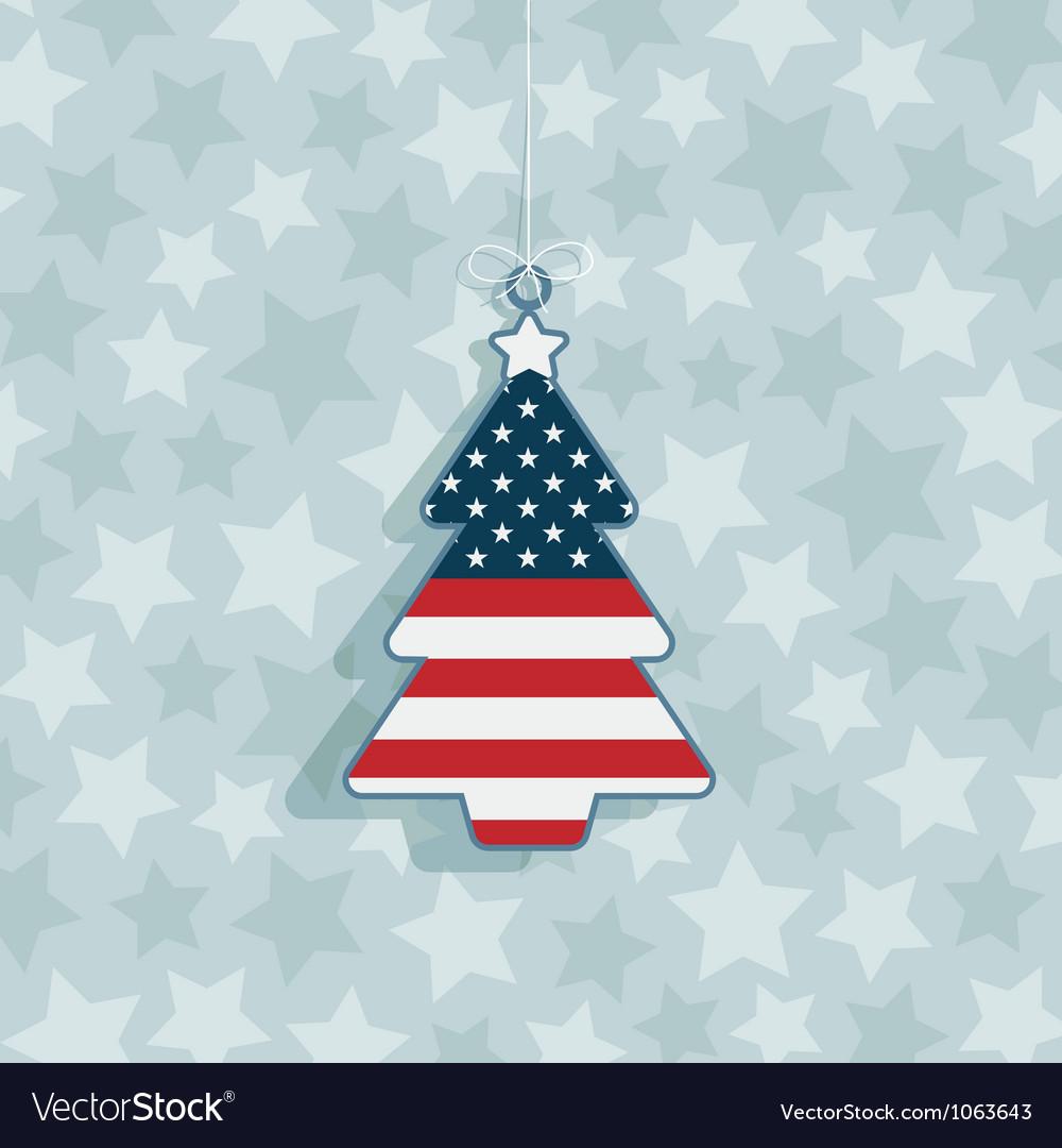 Usa christmas decoration vector image