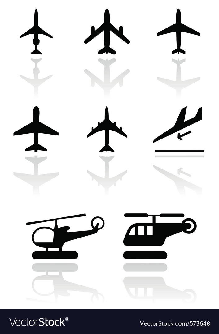Airplane and helicopter symbol