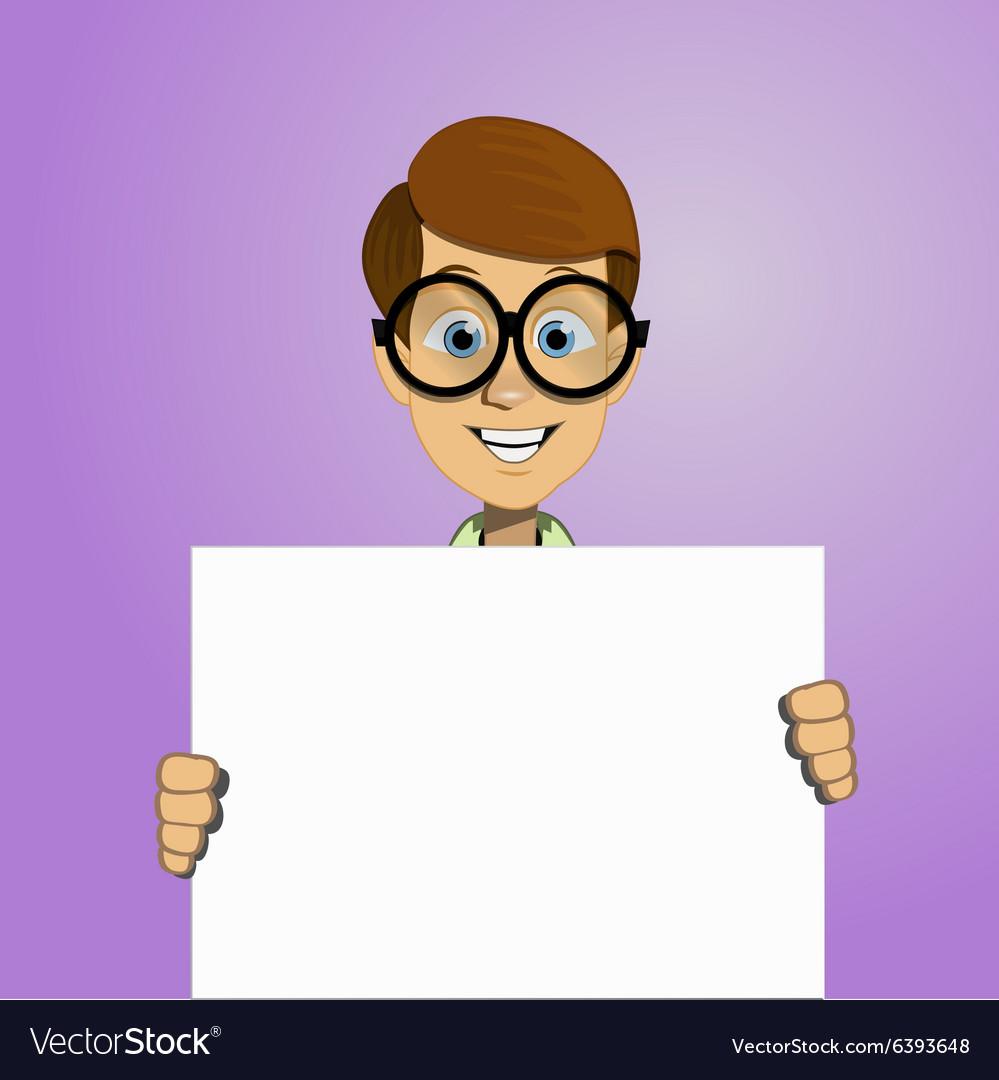 Boy holding a blank form