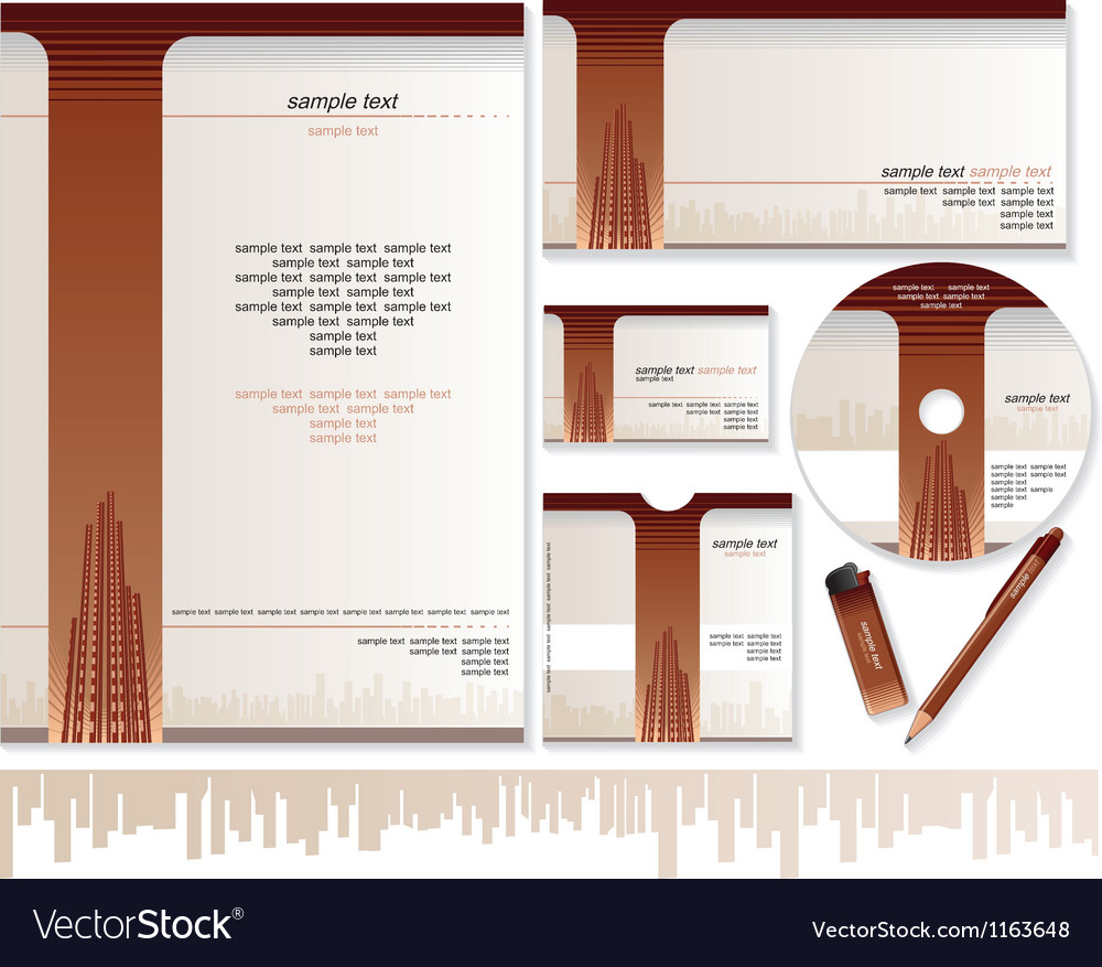Business card brochure envelope design templates vector image maxwellsz
