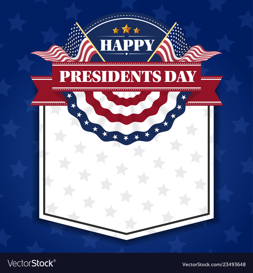 Happy presidents day banner background and