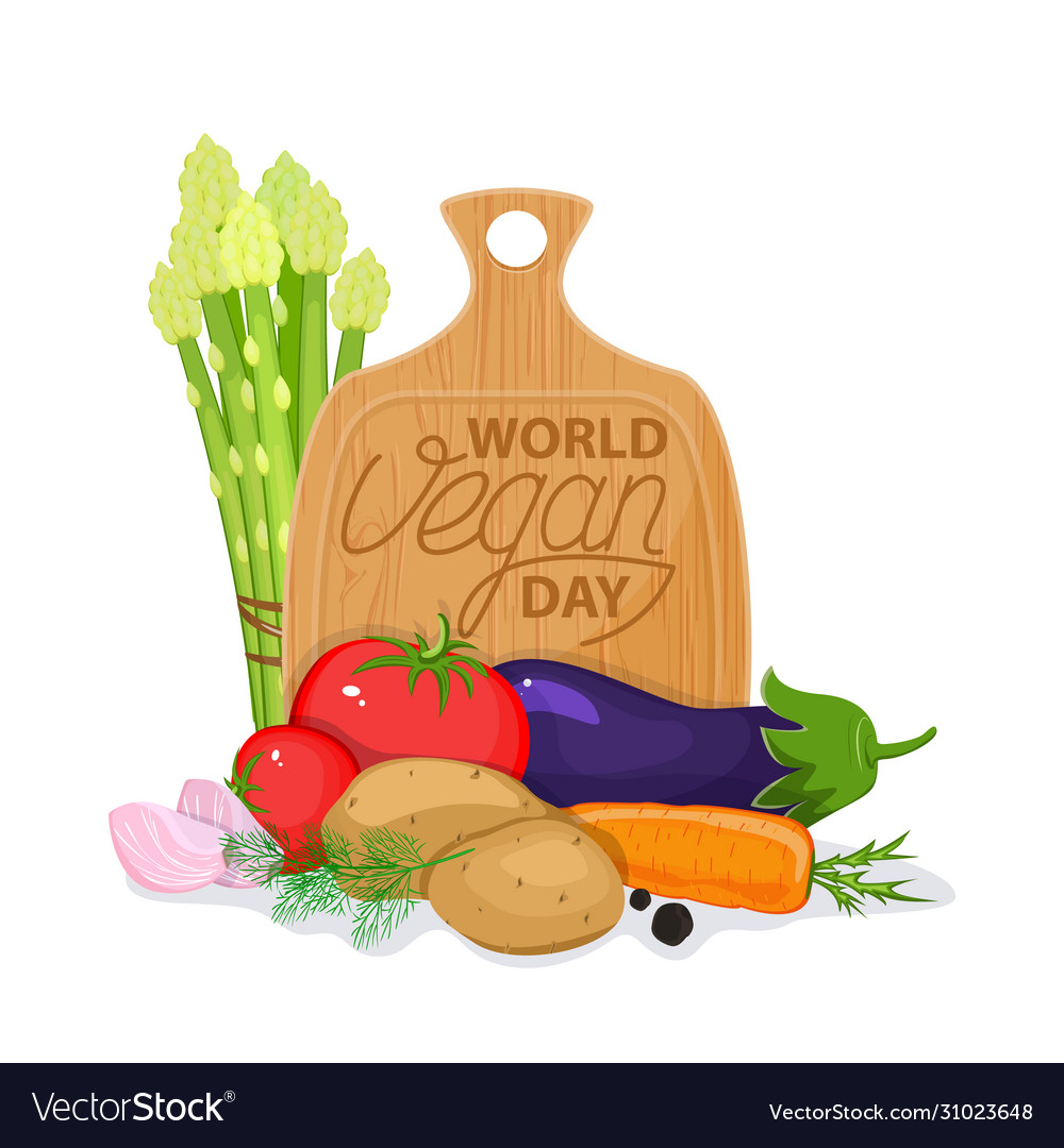 International Day Without Meat Go Vegan Banner Vector Image
