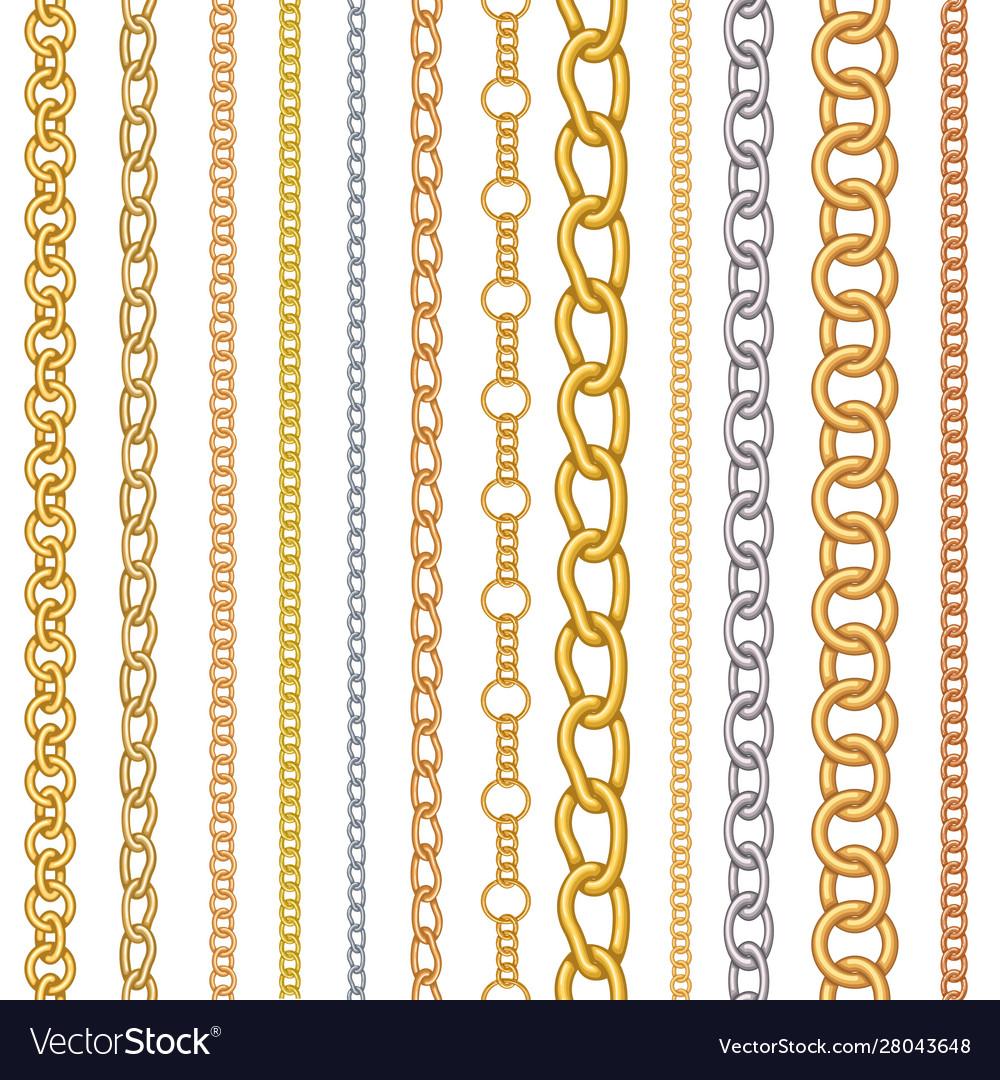Metal chain pattern