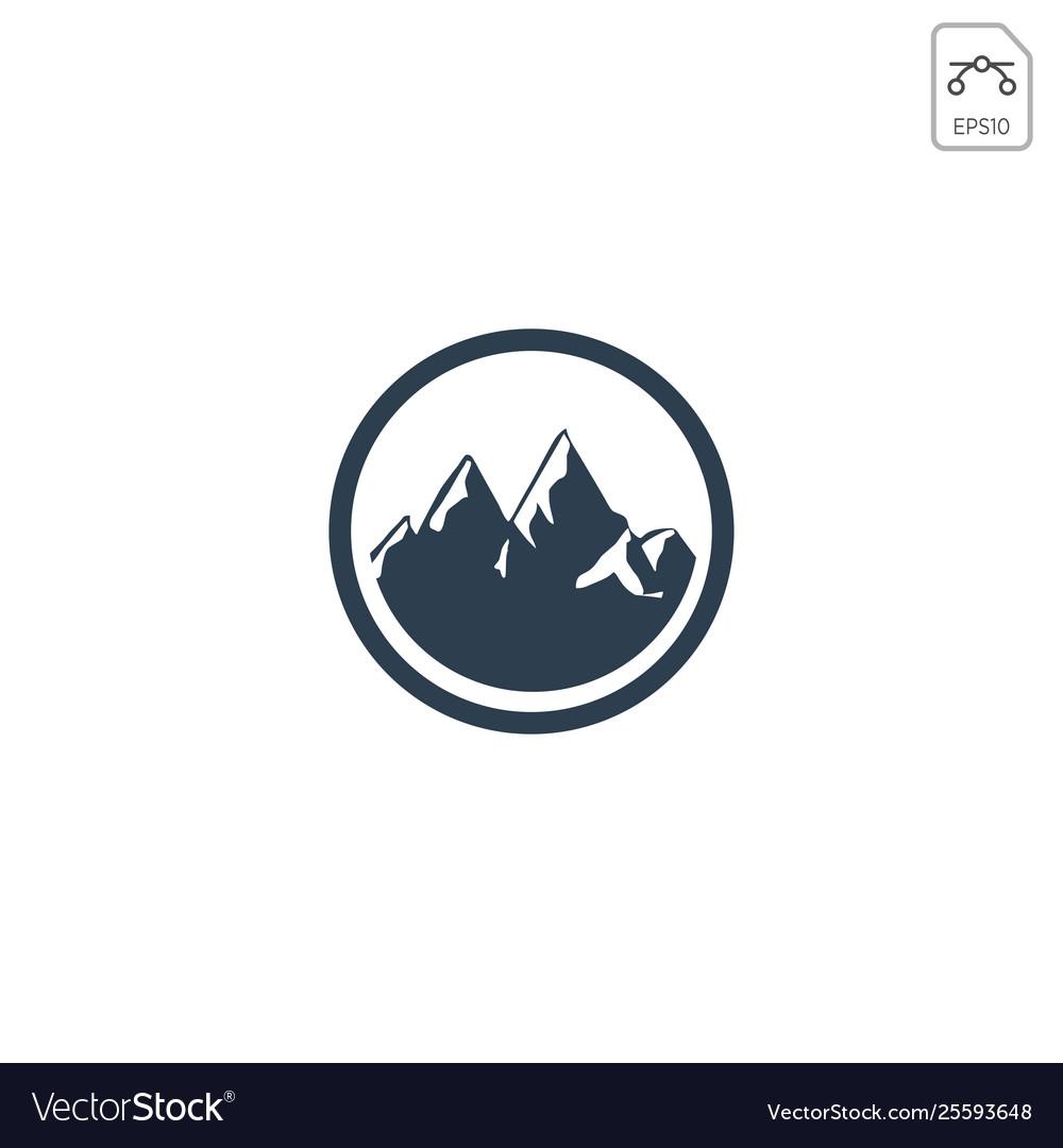Mountain hill logo design icon isolated