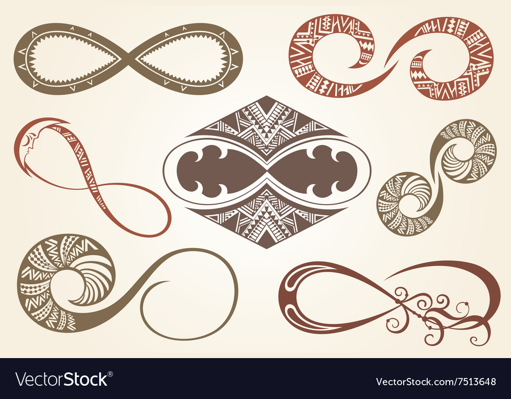 Set Of Different Infinity Symbols Royalty Free Vector Image