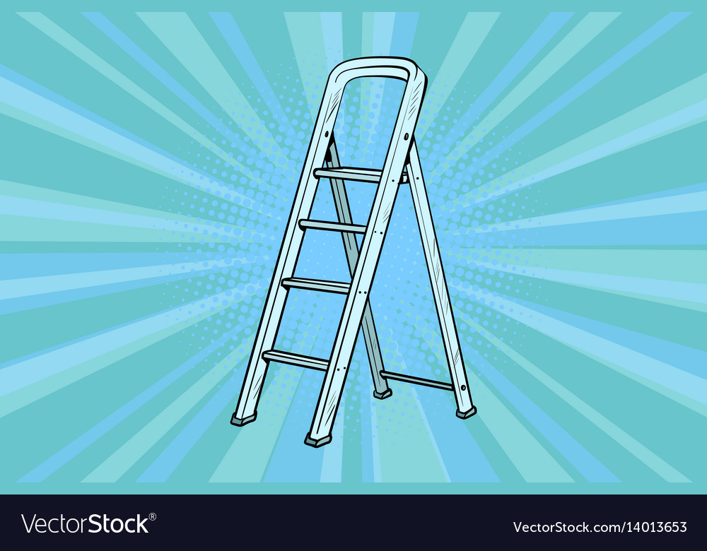Aluminum ladder for repairs in the house