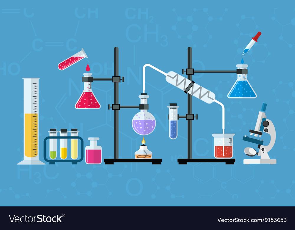 Chemical glassware laboratory