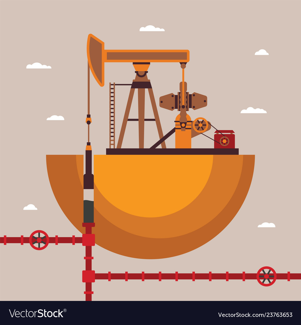 Concept of oil well