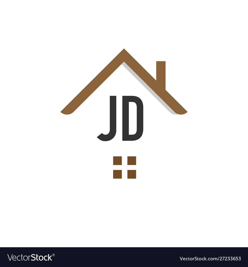 initial letter jd building logo design template vector image vectorstock